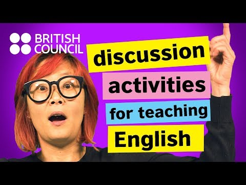 Discussion activities for teaching English