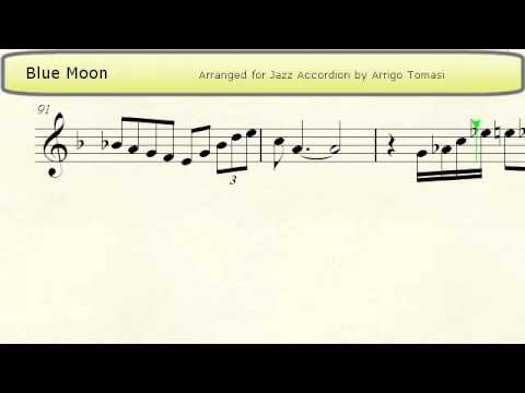 Blue Moon  Jazz Accordion Sheet music