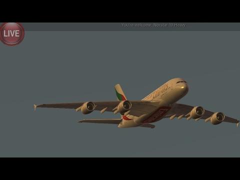 Infinite Flight Simulators broadcast Live. Emirates Boing-777-300ER Takeoff ( London )EGLL..