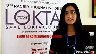 13th Ranbir Thouna live on stage with connection of 22nd Loktak Day at Komlakhong Chingthi