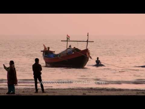 Fishing Boats At Frazerganj On The Bay Of Bengal