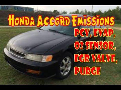 Honda Accord Emissions Smog Locations Pcv Egr Evap Oxygen Sensor