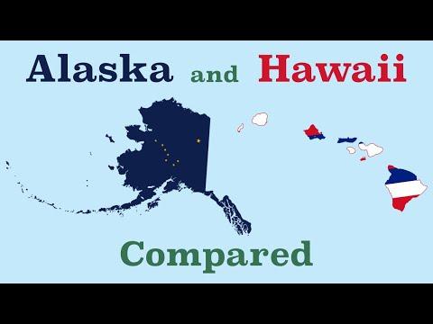 Alaska and Hawaii Compared
