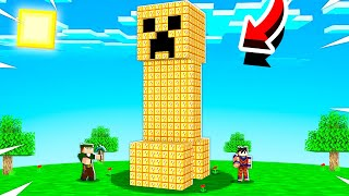 SOBREVIVA AO DESAFIO DO CREEPER DE LUCKY BLOCK NO MINECRAFT!!