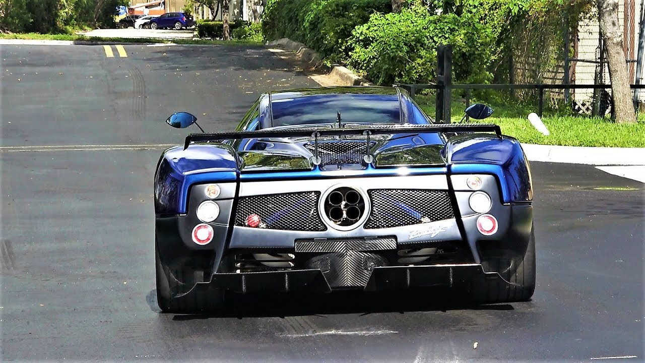 pagani zonda f one of 25 in the world 7.3 l amg v12 engine delivery