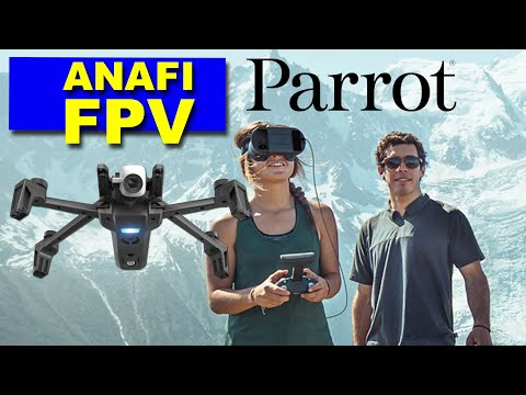 The New Parrot ANAFI FPV Drone - Checking out the cool new camera features