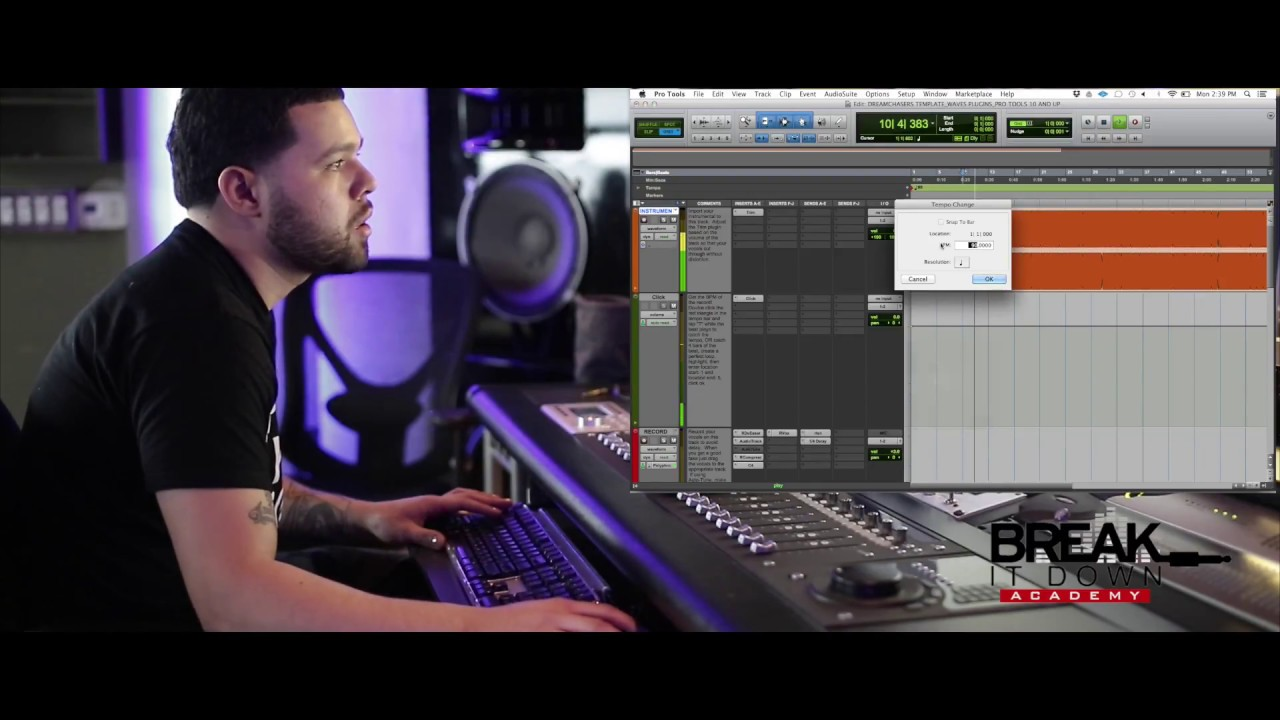 Dreamchasers Pro Tools Template The Set Up Tutorial 1 Youtube