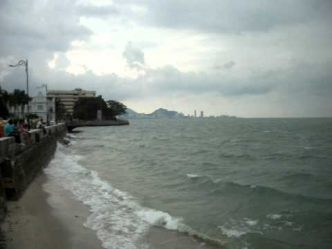 Penang Island Malaysia Bad Weather at the Pier in Georg Town