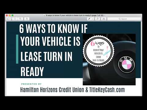 6 Ways To Know If Your Vehicle Is Lease Turn-In Ready