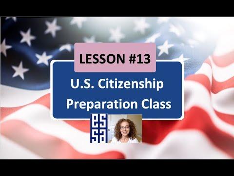 Lesson 13  U.S Citizenship Preparation Class