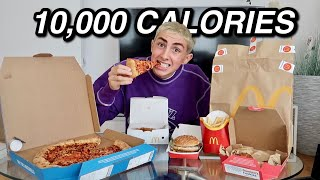 10,000 Calorie Challenge BOY VS FOOD (my tummy hurts)