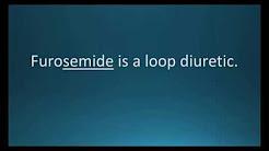 How to pronounce furosemide (Lasix) (Memorizing Pharmacology Flashcard)