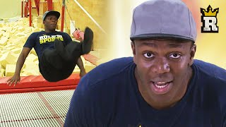 KSI vs Trampoline: The Olympic Routine | Rule