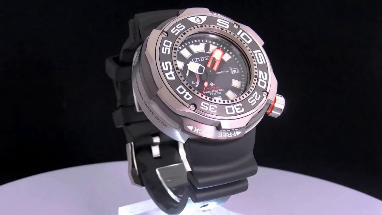 Panasonic Phone Number >> Citizen BN7020-09E Promaster Eco Drive Professional Diver 1000m - YouTube