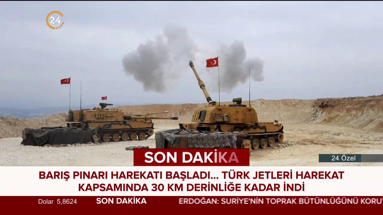 Fırat'ın doğusuna #BarışPınarıHarekatı başladı, Erdoğan Twitter'dan duyurdu