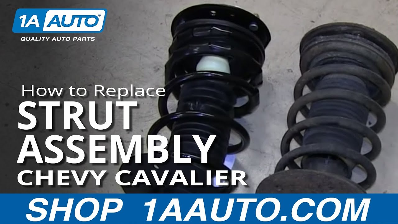 medium resolution of how to install replace front strut spring shock 2000 05 chevy cavalier