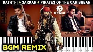 Pirates of Caribbean Kaththi Sarkar BGM Mashup REMIX Electric Keyboard Cover | Sarkar BGM Cover