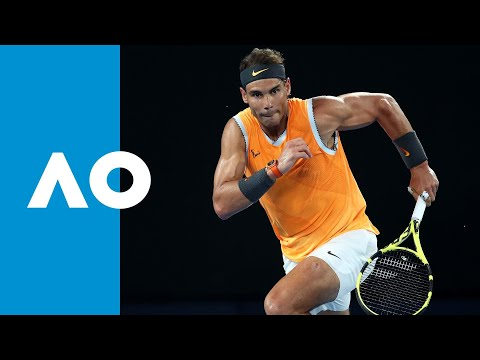 Rafael Nadal v Stefanos Tsitsipas second set highlights (SF) | Australian Open 2019