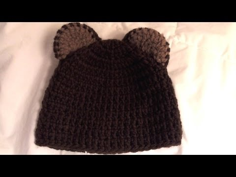 How  to crochet bear beanie (video one)