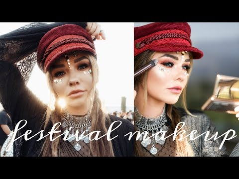 Get Ready With Me For Coachella- EASY DRUGSTORE Festival Makeup | Michelle Crossan