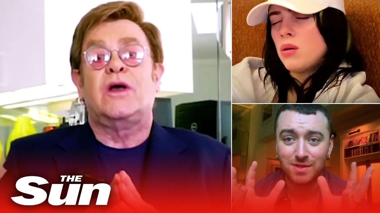 Stars stay home for Elton John's benefit gig