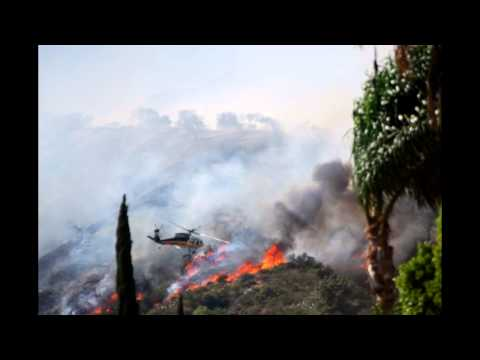 Monrovia Mountain Fire: Video and Pictures (April 20 2013)