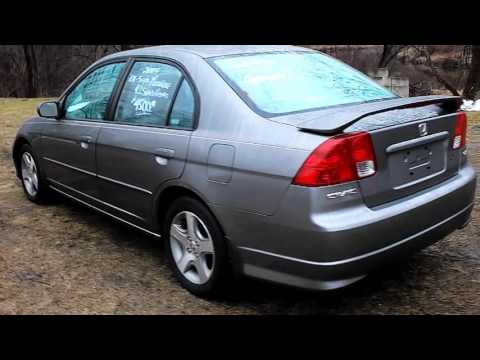 2004 HONDA CIVIC EX 4DR SEDAN 1.7L 4CYL MT MOONROOF/ALLOYS/REAR SPOILER