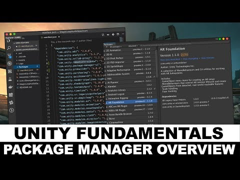 Unity3d Editor Tutorial - Package Manager Overview, usage, and understanding the manifest.json thumbnail