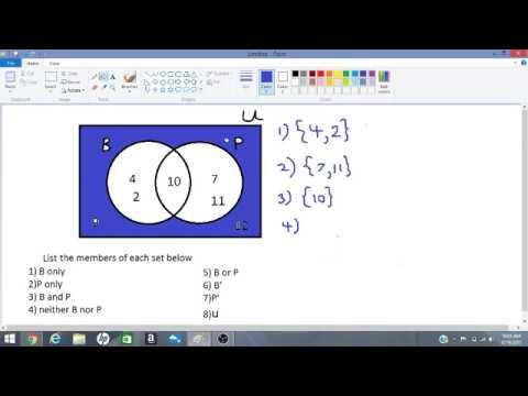 Interpreting Venn Diagrams Youtube