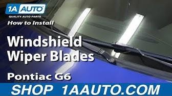 How to Replace Windshield Wiper Blades 05-10 Pontiac G6