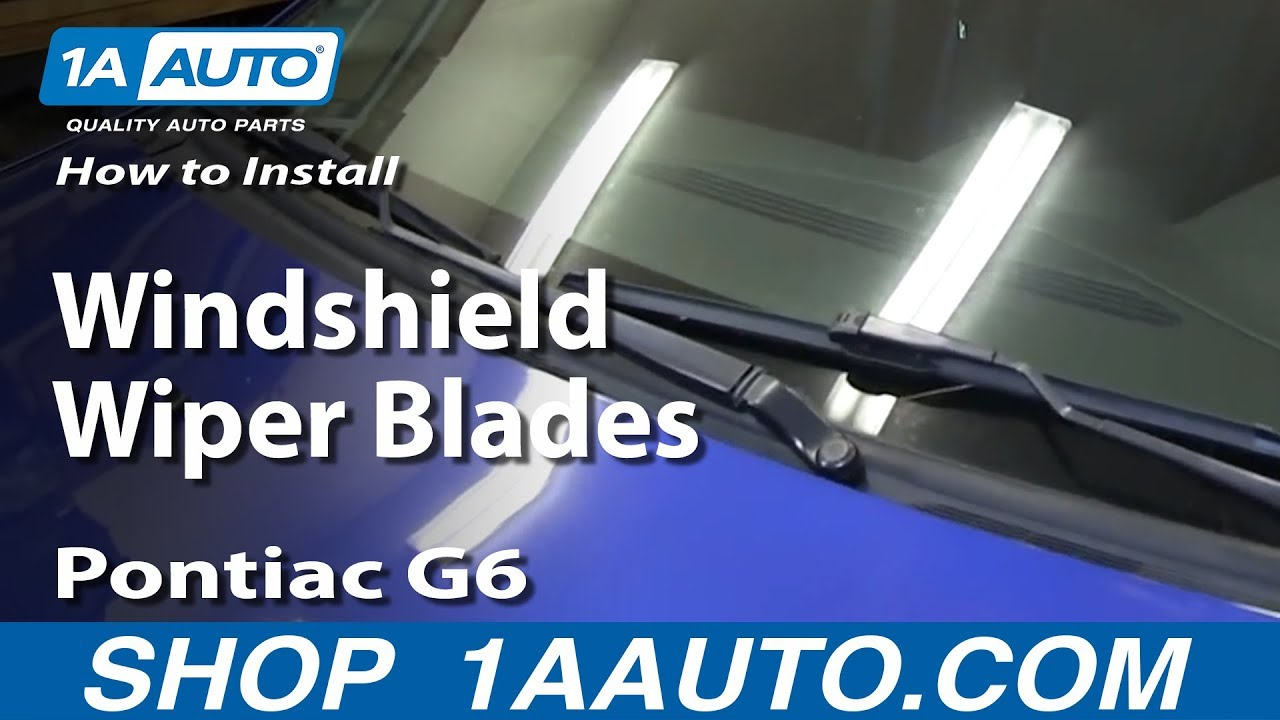 How To Install Replace Windshield Wiper Blades 2005 10