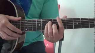How to play Chiquitita (by ABBA)  - Acoustic Guitar Cover Basic Fingerstyle Tutorial