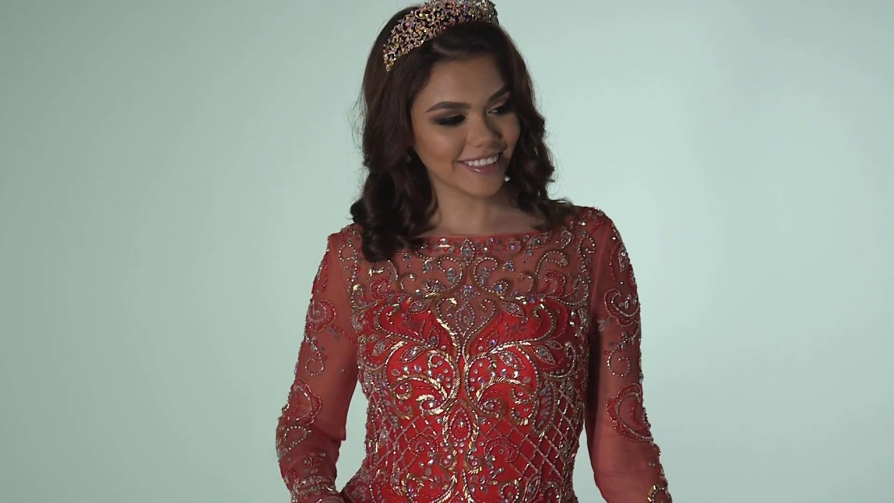 6e8803dae91 Q by DaVinci Quinceanera Dresses  Style 80393 - YouTube