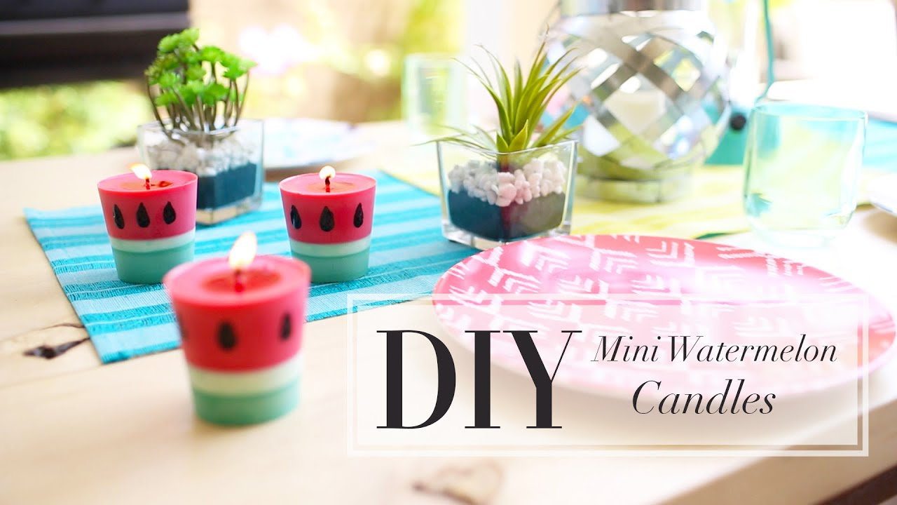 Diy Candles Diy Watermelon Candle How To Make Candles Ann Le Youtube