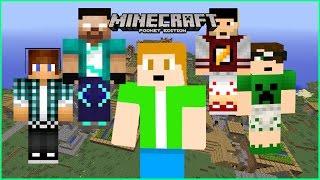 COMO BAIXAR SKIN DE YOUTUBES FAMOSOS - Rezendeevil, AuthenticGames, TazerCraft, Para Minecraft pe!