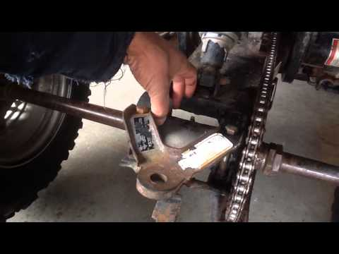 Chain adjustment on older Polaris Xplorer 300 400
