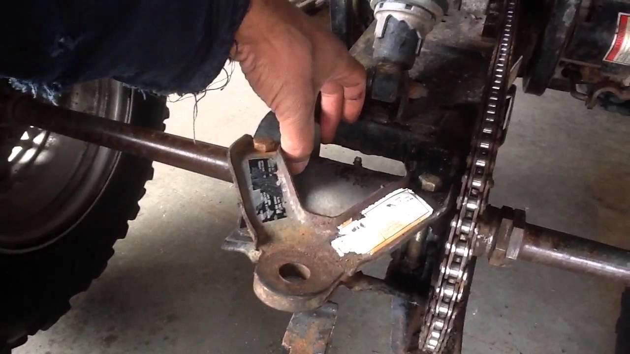 Chain adjustment on older Polaris Xplorer 300 400