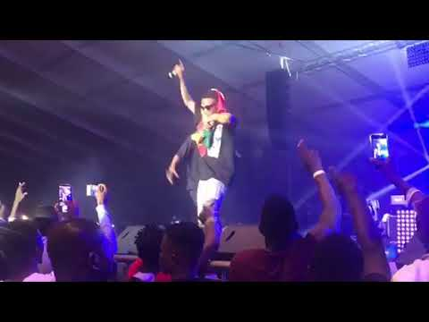 SURPRISE!!! Wizkid Brings King Promise To Stage To Perform CCTV At The Glo Concert