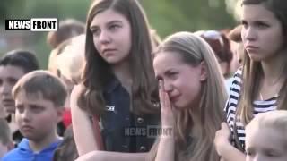 Девочка сквозь слезы читает стихи о войне на Донбассе