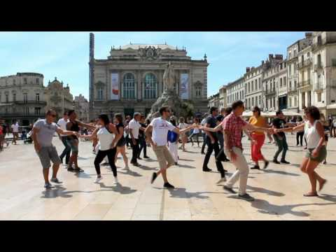 Montpellier International Flashmob West Coast Swing 2016