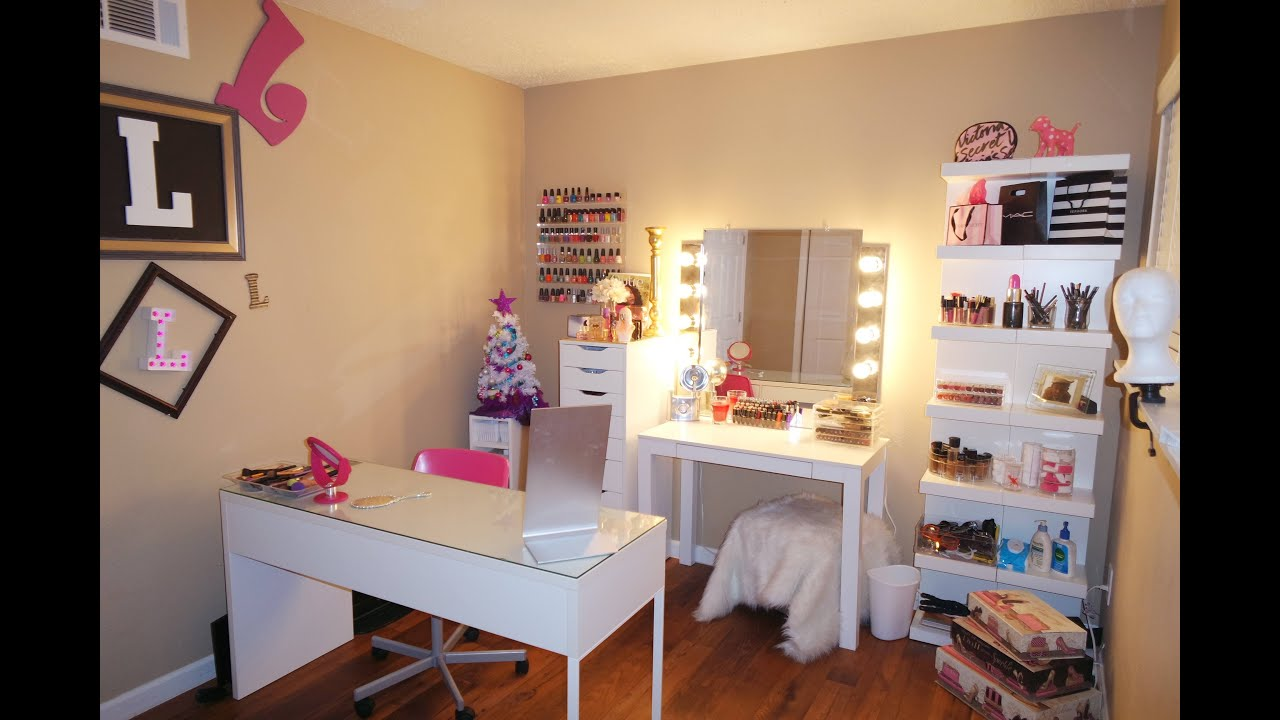 beauty room furniture. Beauty Room Tour | Beginner Friendly- Dollar Tree, Ikea, Walmart - YouTube Furniture
