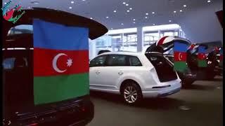 Rusiya yollarında Azərbaycan bayrağları