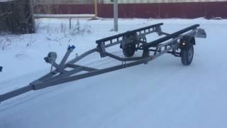 Прицеп для катера Амур от GTS-trailer(Прицеп длиной 6 метров изготовлен для катера Амур грузоподъёмностью 1500кг. Усиленная рама, рессоры и колеса...., 2016-12-18T19:02:26.000Z)