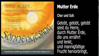 SONNENGESANG DES HEILIGEN FRANZ VON ASSISI - HEINZ  ACKER