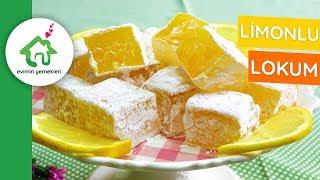 Ev Yapımı Limonlu Lokum Tarifi 🍋🍋🍋 / Meyveli Lokum Nasıl Yapılır
