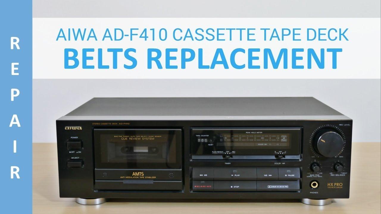 aiwa ad f410 cassette deck belts replacement youtube rh youtube com 1966 Ford F850 Fire F950 Ford Custom Trucks