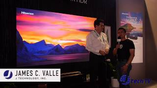 Hisense 100L7T 100 Inch TriChroma RGB Laser Short Throw Projector TV at CES 2019