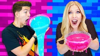 boy vs girl diy slime challenge prestonplayz vs briannaplayz