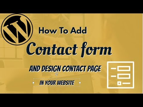 How to add Contact Form very easily to WordPress website? thumbnail