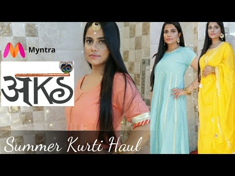 Aks Kurti Haul from Myntra - Best summer Indian wear | Sana K